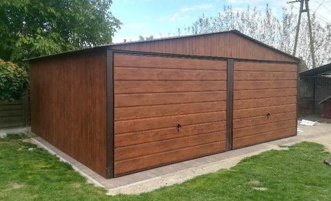 Garaże blaszane 5x5 6x5 6x6 Garaż Wzmacniany Montaż gratis podwójny dwuspadowy