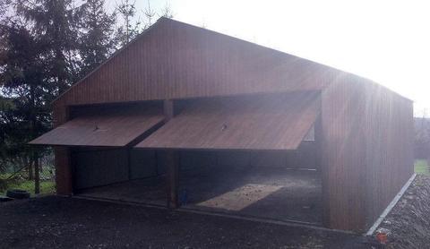 Garaż blaszany 7x7 dwuspadowy garaże na wymiar podwójny