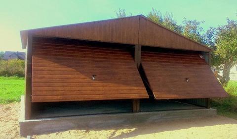 Garaż blaszany garaże podwójny wzmocniona konstrukcja wiaty raty