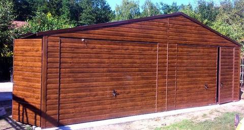 Garaże blaszane garaż podwójny na wymiar 5x5 6x5 6x6