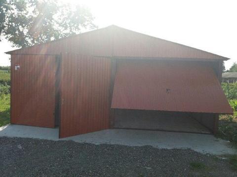 Garaż blaszany 5x5 dwuspad kolor podwójny montaż gratis