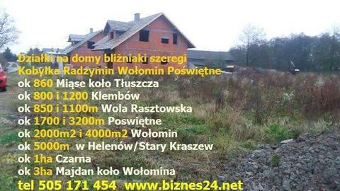 Działka, dzialki Warszawa i okolice